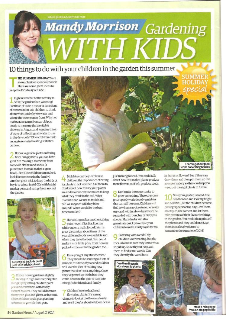 Garden News article 2nd August 2014 10 things to do